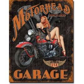 Plaque Motor Head Garage