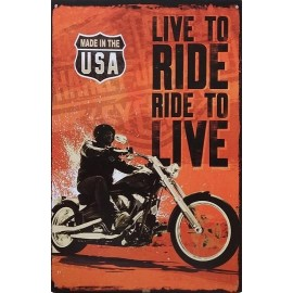 Live To Ride Plate