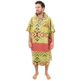 Poncho All-In V Bumpy Indian Brown Argile Waffle
