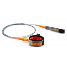 Leash FCS Comp Essential 6' Charcoal Blood Orange