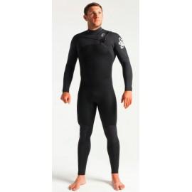 Combinaison C-Skins Homme Session Chest Zip 3/2mm Black Carbon White