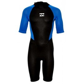 Shorty Billabong Intruder Junior Back Zip 2.2mm Blue