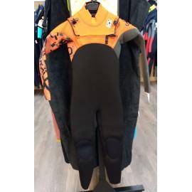 C-Skins Junior Session Wetsuit Chest Zip 4/3mm Black Orange C-Ollage Charcoal