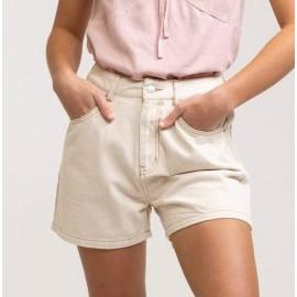RHYTHM Line Denim Vintage White Women's Shorts