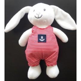 Papylou White Sailor Rabbit Plush