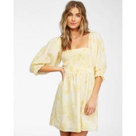 BILLABONG Groovy Yellow Fade Dress