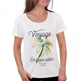 Tee Shirt Femme STERED Voyage En Eaux Salées Ecru