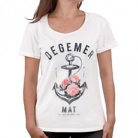 Tee Shirt Femme STERED Degemer Mat Ecru