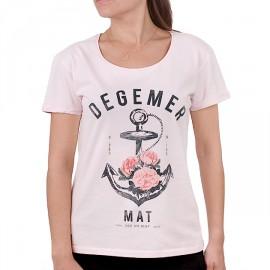 Tee Shirt Femme STERED Degemer Mat Rose Poudré