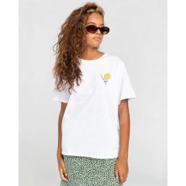 Tee Shirt Femme ELEMENT Rise And Shine Optic White