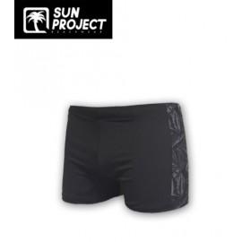 SUN PROJECT Men's Boxer Swimsuit Barbar Black