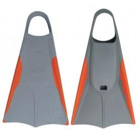 Orca Bodyboard Fins Orange Grey
