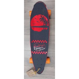 """Skate Cruiser Beercan Pin Tail 30"""" Red"""