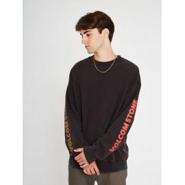 VOLCOM Harcid Wash Crew Sweatshirt Black