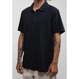 RHYTHM Classic Linen Vintage Black Shirt