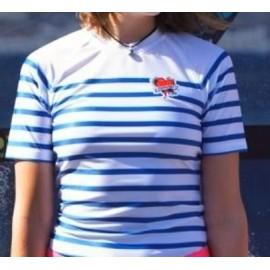 Lycra Surf Pistols Women's Mariniere Short Sleeve Pin Up Shirt