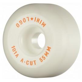 Mini Logo Wheels A Cut 55mm 101A White