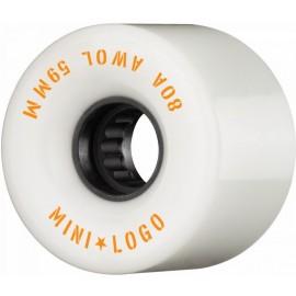 Mini Logo AWOL Skate Wheels 59mm 80A White