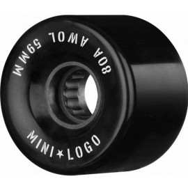 Mini Logo AWOL Skate Wheels 59mm 80A Black
