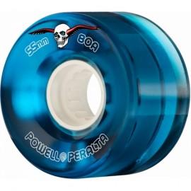 Powell Peralta Clear Cruiser Skateboard Wheels Blue 55mm 80A