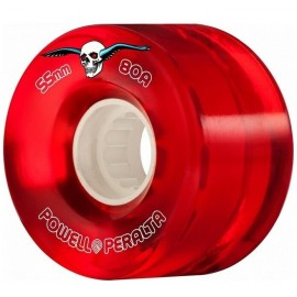 Roues Powell Peralta Clear Cruiser Red 55mm 80A