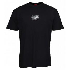 SANTA CRUZ Men's Tee Shirt Universal Dot Black