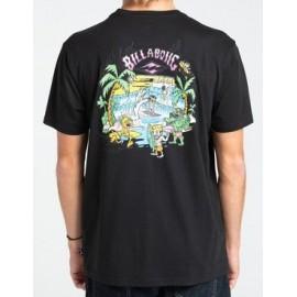 Tee Shirt BILLABONG Gang of Gangs Black