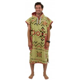 Poncho All-In Classic Indian Brown Argile Waffle