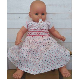 Hand-Embroidered Hand Embroidered Baby Dress Emma White