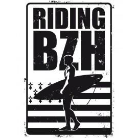 Plaque de Métal Riding BZH
