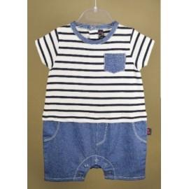 Baby Playsuit Papylou Castets Striped blue
