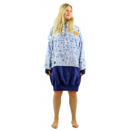 All-In Boy Friend Camping sky Navy Poncho