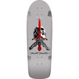 "Powell Peralta Rodriguez Skull & Sword 10.0"" Silver Skateboard Deck"