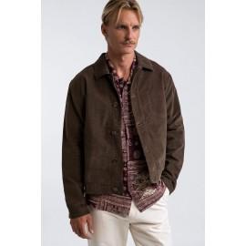 RHYTHM Corduroy Basic Trucker Coffee Velvet Jacket