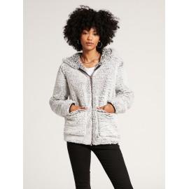 Fleece Woman VOLCOM Lil Phuz Up Light Gray