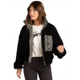Billabong Crossed Roads Women's Fleece Jacket Black