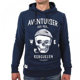 Hooded Sweatshirt Stered Aventurier des Mers Navy