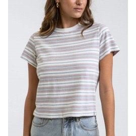 Tee Shirt Femme RHYTHM Sorbet Striped Multi