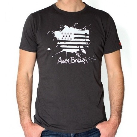 Tee Shirt Awen Stered Stain black vintage