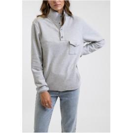 RHYTHM Echo Snap T Woman Sweatshirt Gray