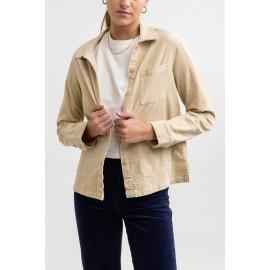 RHYTHM Ottway Corduroy Stone Women's Velvet Shirt