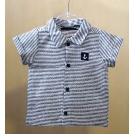 Baby Shirt PAPYLOU Cannes Striped Navy