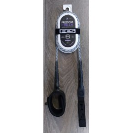 Leash FCS Freedom Helix 6' All Round Natural Black