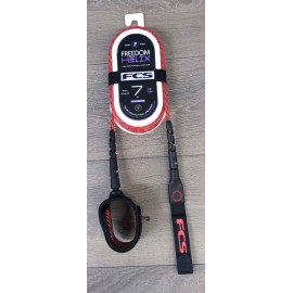 Leash FCS Freedom Helix 7' All Round Red Black