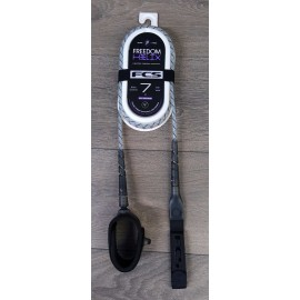 Leash FCS Freedom Helix 7' All Round Natural Black