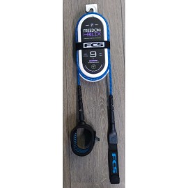 Leash FCS Freedom Helix 9' All Round Ankle Blue Black