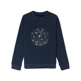 Crew Sweatshirt Junior ELEMENT Cookie Galaxy Eclipse Navy