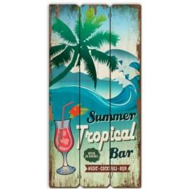 Tableau En Bois Tropical Bar
