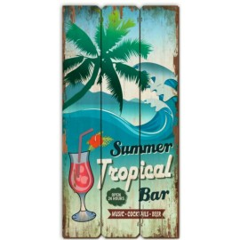 Wooden Table Tropical Bar