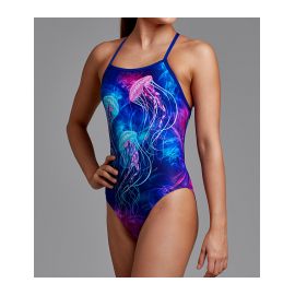 FUNKITA Strapped One Piece Swimsuit Jelly Belly Purple